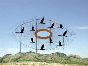 Geese in Flight - The Enchanted Highway