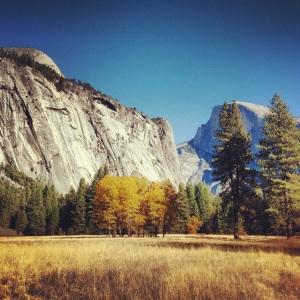 Walking in Yosemite Valley